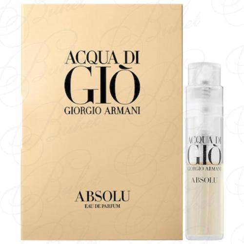 Пробники Armani ACQUA DI GIO ABSOLU 1.2ml edp