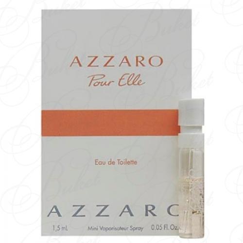 Пробники Azzaro AZZARO POUR ELLE Eau de Toilette 1.5ml edt
