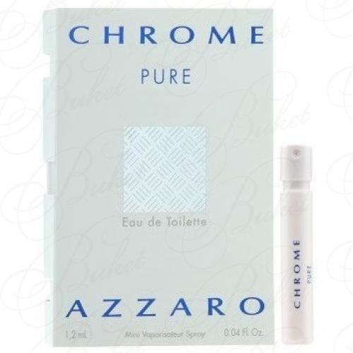 Пробники Azzaro CHROME PURE 1.2ml edt