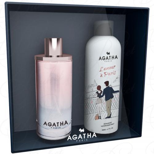 Набор Agatha L`AMOUR A PARIS SET (edt 100ml+deo 200ml)