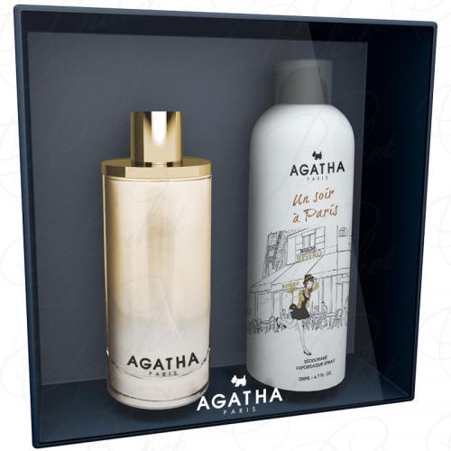 Набор Agatha UN SOIR A PARIS SET (edp 100ml+deo 200ml)
