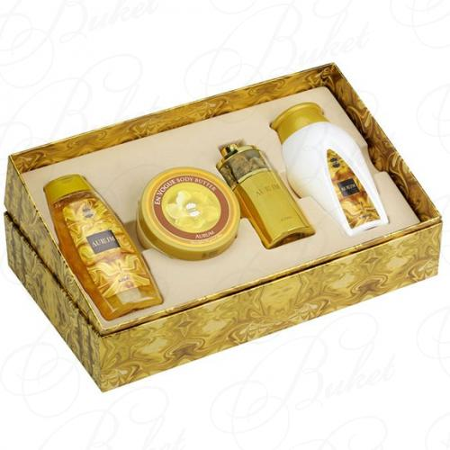 Набор AJMAL AURUM SET (edp 75ml+b/oil 200ml+sh/gel 200ml+Powder 100g)