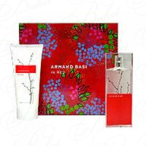 Набор ARMAND BASI IN RED SET (edt 50ml+b/lot 100ml)