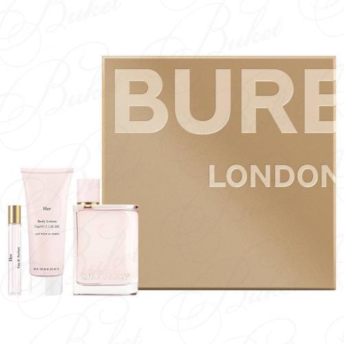Набор BURBERRY BURBERRY HER SET (edp 100ml+edp 7.5ml+b/lot 75ml)