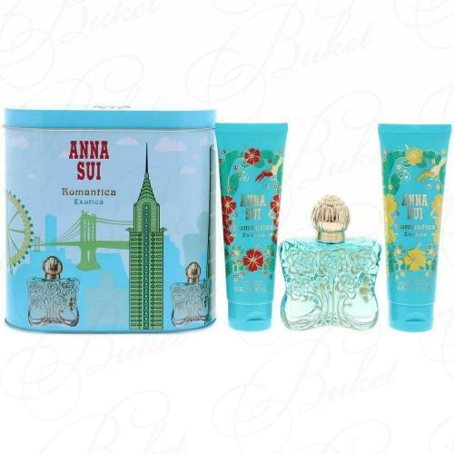 Набор ANNA SUI ROMANTICA EXOTICA SET (edt 50ml+b/lot 90ml+sh/gel 90ml+music box)