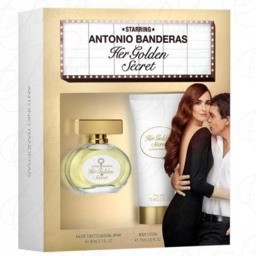 Набор ANTONIO BANDERAS HER GOLDEN SECRET SET (edt 80ml+b/lot 75ml)