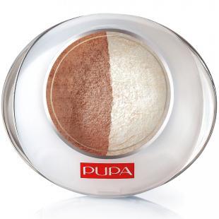 Тени для век PUPA MAKE UP LUMINYS DUO №01 Sand-Dore/Золотистый песок