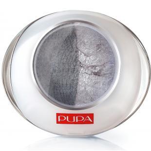 Тени для век PUPA MAKE UP LUMINYS DUO №06 Grey-Silver/Серый-Серебряный