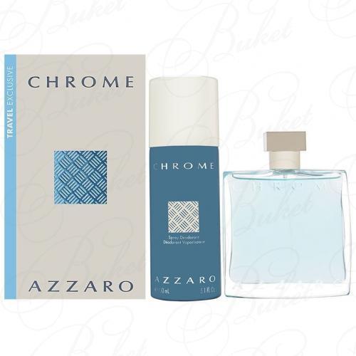 Набор AZZARO CHROME SET (edt 100ml+deo 150ml)
