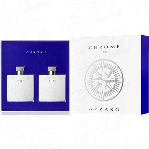 Набор AZZARO CHROME PURE SET (edt 100ml+a/sh 100ml)