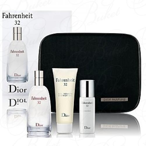 Набор CHRISTIAN DIOR FAHRENHEIT 32 SET (edt 100ml+deo 50ml+sh/gel 75ml+bag)