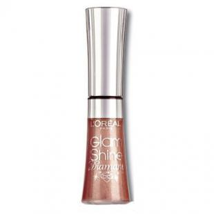 Блеск для губ L`OREAL MAKE UP GLAM SHINE DIAMANT №166 Quartz Carat/Бежевый алмаз