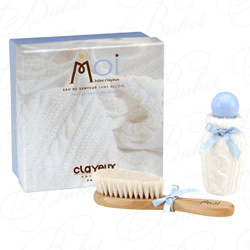 Clayeux MOI BEBE CLAYEUX BLEU НАБОР (Ароматизированная вода 50ml+Щетка для волос)