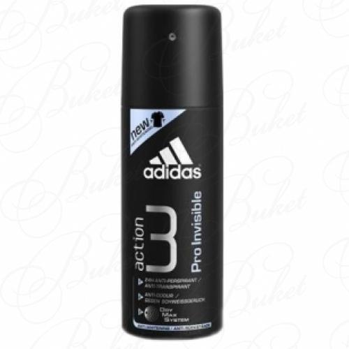 Дезодорант спрей Adidas ACTION 3 PRO INVISIBLE deo spray 150ml