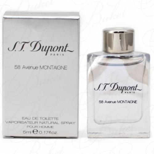 Миниатюры Dupont 58 AVENUE MONTAIGNE HOMME 5ml edt