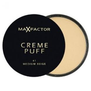 Пудра для лица MAX FACTOR MAKE UP CREME PUFF №41 Medium Beige/Средне-Бежевый