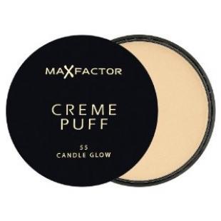 Пудра для лица MAX FACTOR MAKE UP CREME PUFF №55 Candle Glow/Блик свечи