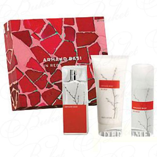 Набор ARMAND BASI IN RED SET (edt 100ml+b/lot 100ml+deo 150ml)