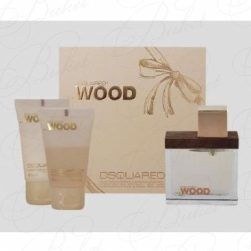 Набор DSquared2 SHE WOOD SET (edp 30ml+b/lot 30ml+sh/gel 30ml)