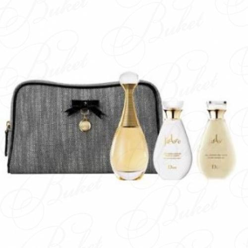 Набор CHRISTIAN DIOR J'ADORE SET (edp 50ml+b/milk 50ml+sh/gel 50ml+сумочка)