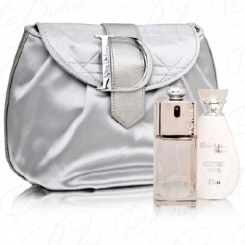 Набор CHRISTIAN DIOR ADDICT SHINE SET (edt 50ml+shimmering b/lot 50ml+косметичка)