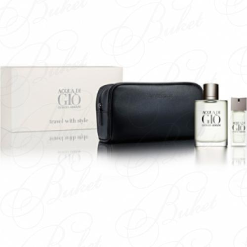 Набор ARMANI ACQUA DI GIO FOR HIM SET (edt 100ml+edt 20ml+косметичка)