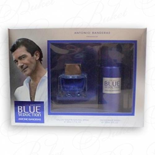 Набор ANTONIO BANDERAS BLUE SEDUCTION FOR MEN SET (edt 50ml+deo 150ml)