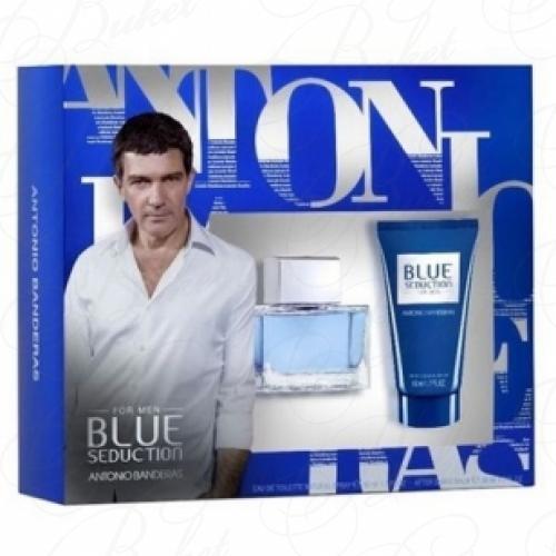 Набор ANTONIO BANDERAS BLUE SEDUCTION FOR MEN SET (edt 50ml+a/sh balm 50ml)