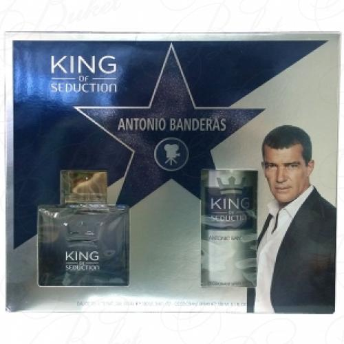 Набор ANTONIO BANDERAS KING OF SEDUCTION SET (edt 100ml+deo 150ml)