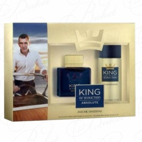 Набор ANTONIO BANDERAS KING OF SEDUCTION ABSOLUTE SET (edt 100ml+deo 150ml)