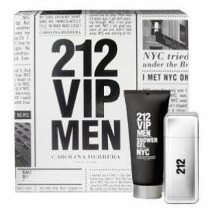 CAROLINA HERRERA 212 VIP MEN SET (edt 100ml+sh/gel 100ml)