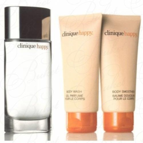 Набор CLINIQUE HAPPY FOR MEN  SET (parf 100ml+sh/g 30ml+b/lot 40ml+soap)