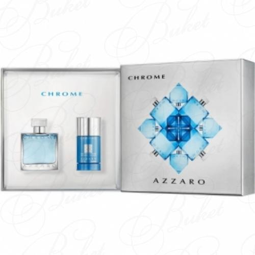 Набор AZZARO CHROME SET (edt 50ml+deo-stick 75gr)