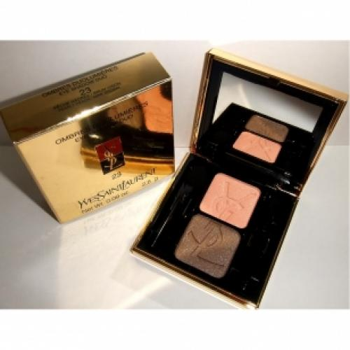 Тени для век YVES SAINT LAURENT MAKE UP OMBRES DUOLUMIERES №23 Pearly Peach/Mink Brown